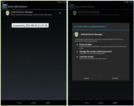 Administrador de dispositivos Android