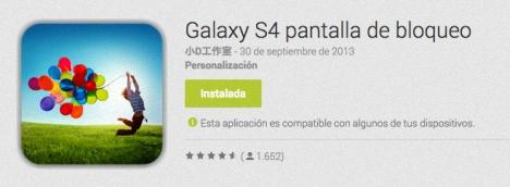 Pantalla de Bloqueo del Galaxy S4
