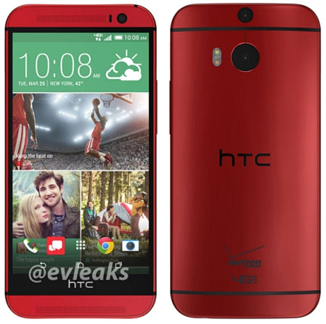 HTC One M8 colo rojo