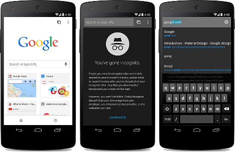Navegacion anonima en Chrome beta para Android
