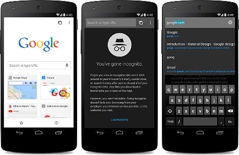 Navegacion anonima en Chrome beta para Android