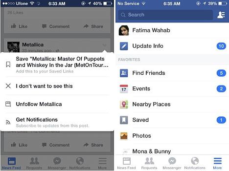 Nuevas caracterísitcas de Facebook para Android