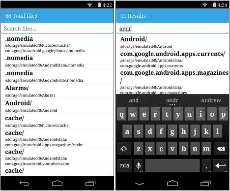 buscar archivos en el telefono móvil Android