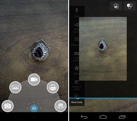 captura de detalles de objetos pequeños en Android