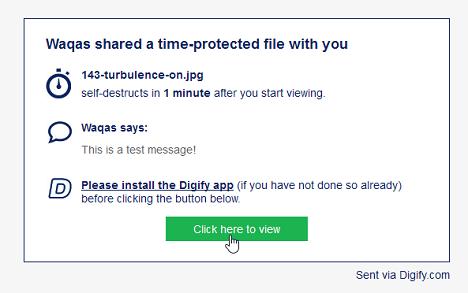 como reciben los mensajes con Digify
