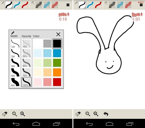 dibujar cuentos con una aplicación android