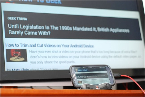 Como conectar teléfonos móviles Android con TV 01