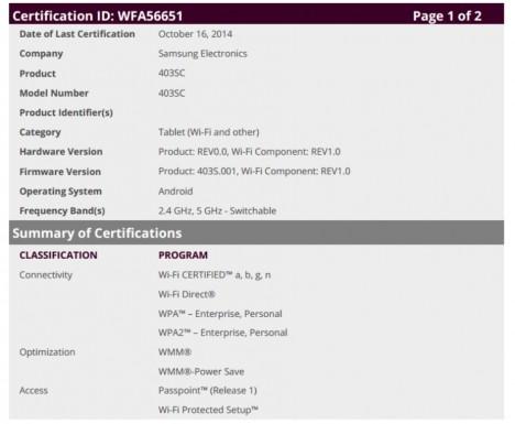 Documento filtrado Samsung 403SC
