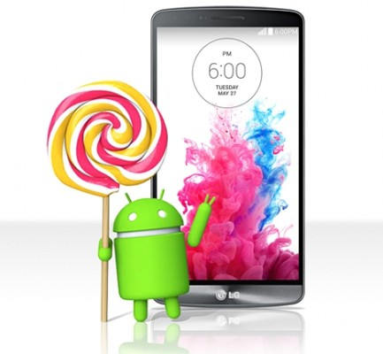 LG G3 con Lollipop Android 5.0