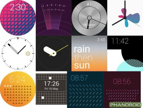 imágenes filtradas de Android Wear