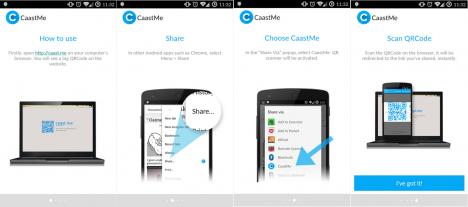 Asistente gráfico de uso para CaastMe