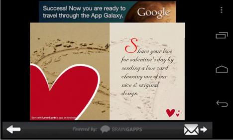 Celebra San Valentin desde tu Android