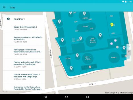 Mapa y Agenda sincronizadas para la Google I/O 2015