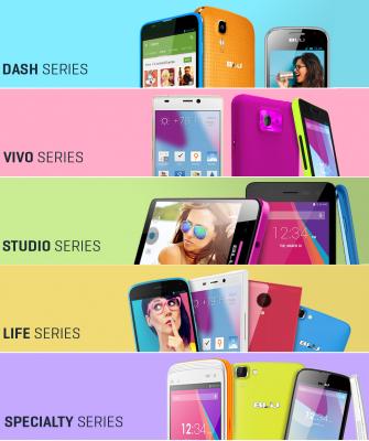 Colección de teléfonos móviles BLU con Android