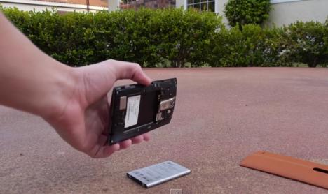 LG G4 desarmado ante la caída de 1.5 m.