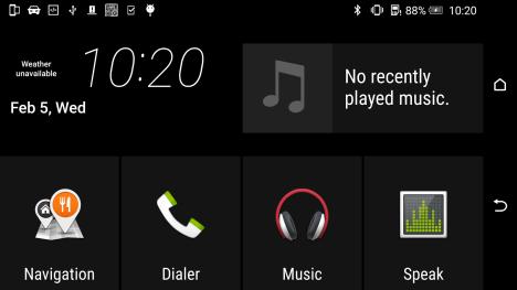 Manejar Funciones del Terminal HTC desde la pantalla del coche