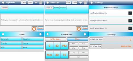 Programar mensajes sms en Android a diferentes horarios