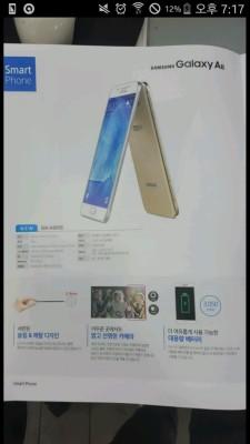 Hoja de especificaciones del Samsung Galaxy A8