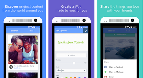 Webmaker beta para Android
