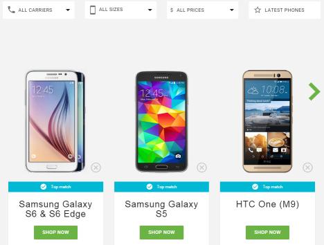 Alternativas de teléfonos móviles Android