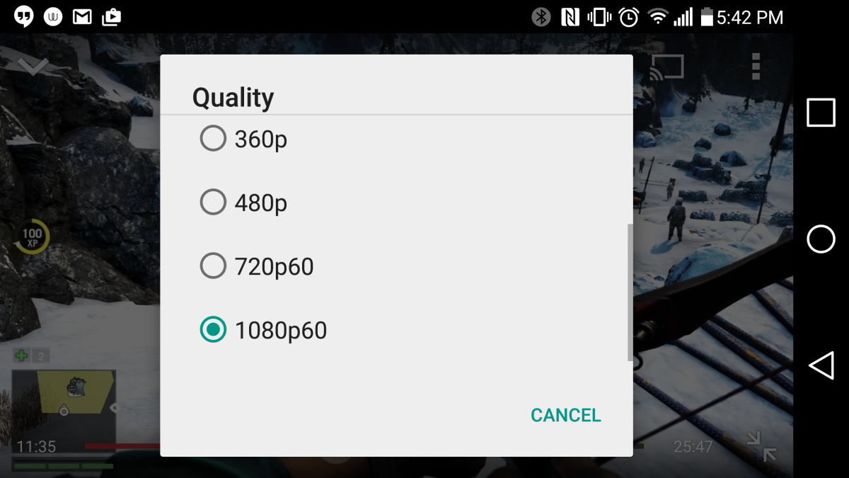 YouTube Android ya reproduce videos de 60 fpsAndroid Fácil