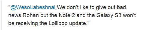 Lollipop para Galaxy S3