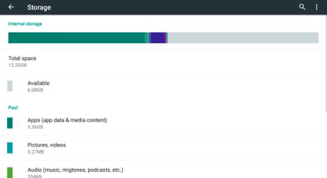 Espacio consumido de aplicaciones Android