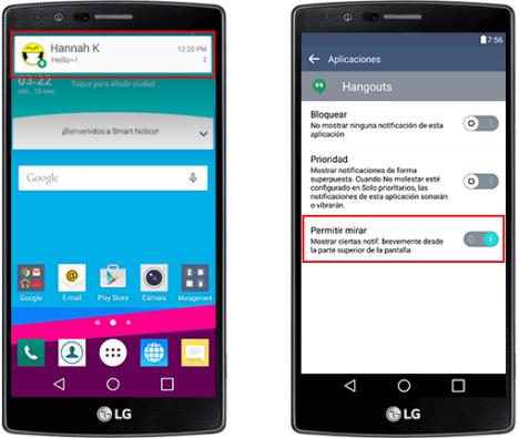 LG G4 y las notificaciones