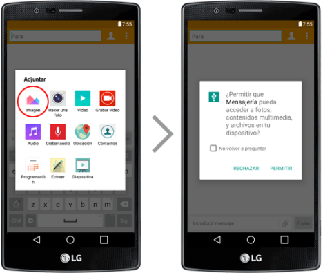 LG G4 y permisos de apps