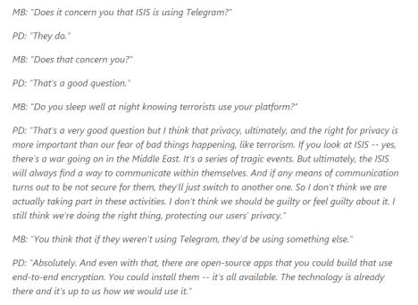 Telegram fue usada antes de los ataques terroristas en Francia