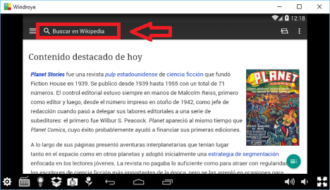 Nuevo Wikipedia para Android