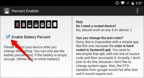 carga de la Batería Android