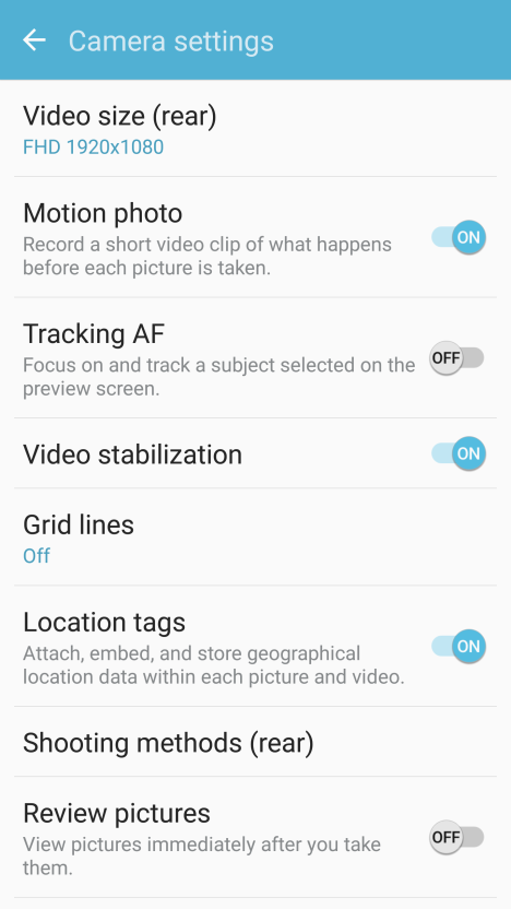 Motion Photo en Samsung Galaxy S7