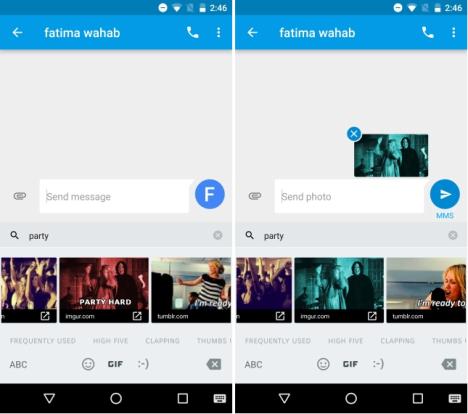 Enviar Emojis GIFs animados en Android 7.1