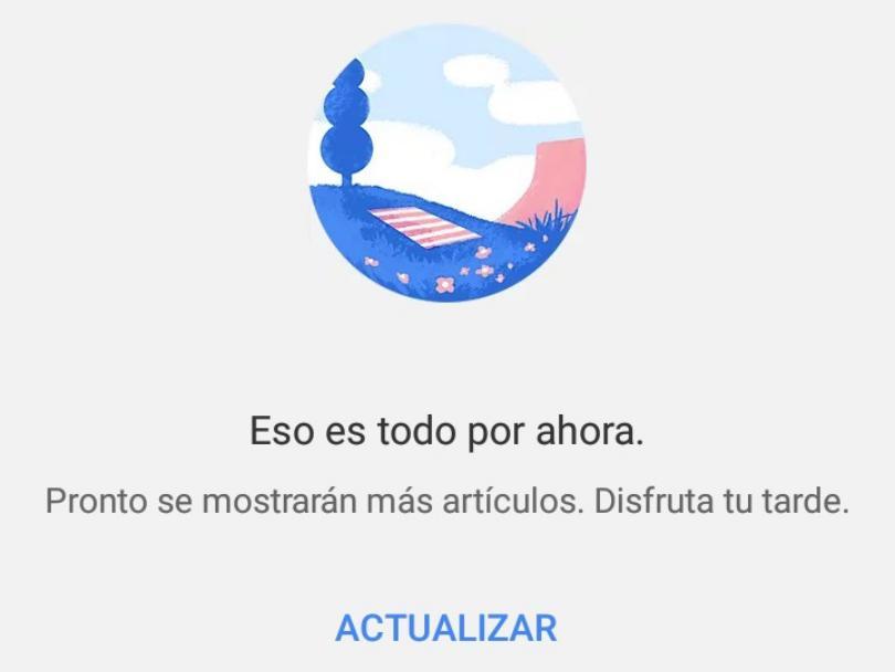 eliminar contenido sugerido en Chrome Android