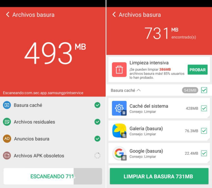 Acelerar al teléfono móvil Android