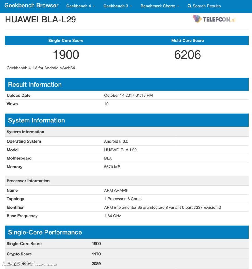 Huawei Mate 10 Pro especificaciones