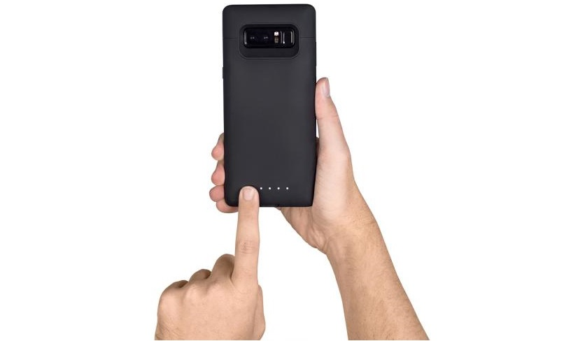 Galaxy Note 8 con Mophie Juice Pack