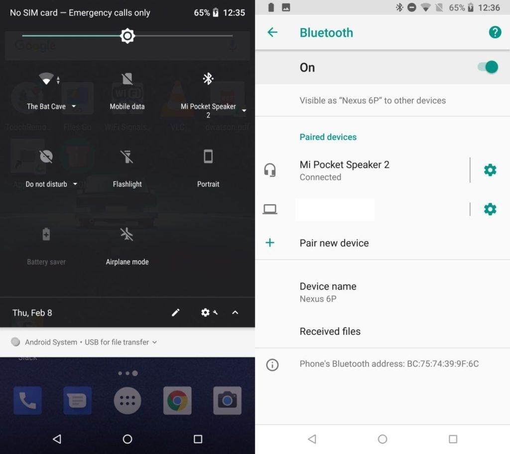 Medir la batería de accesorios Bluetooth