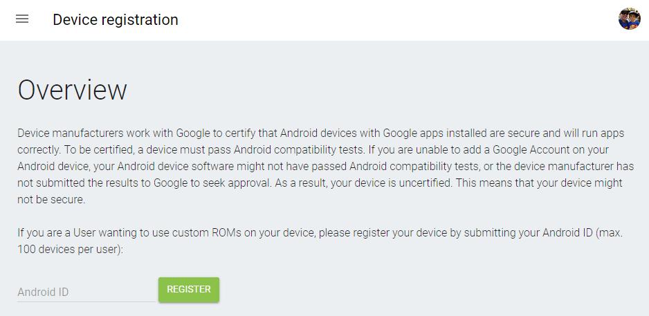 Aplicaciones de Google GApps bloqueadas en smartphone rooteados