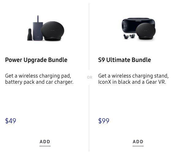 accesorios extras para Galaxy S9