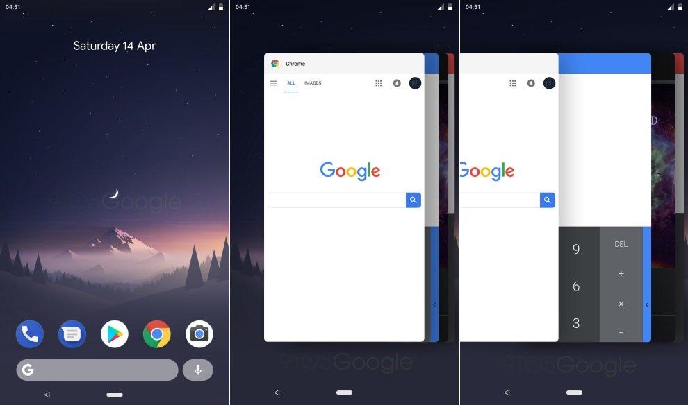 Android P imagenes filtradas
