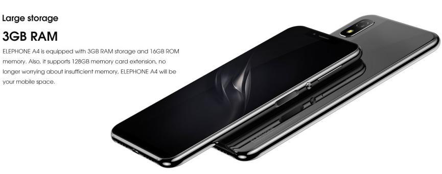 Elephone A4 y memoria RAM