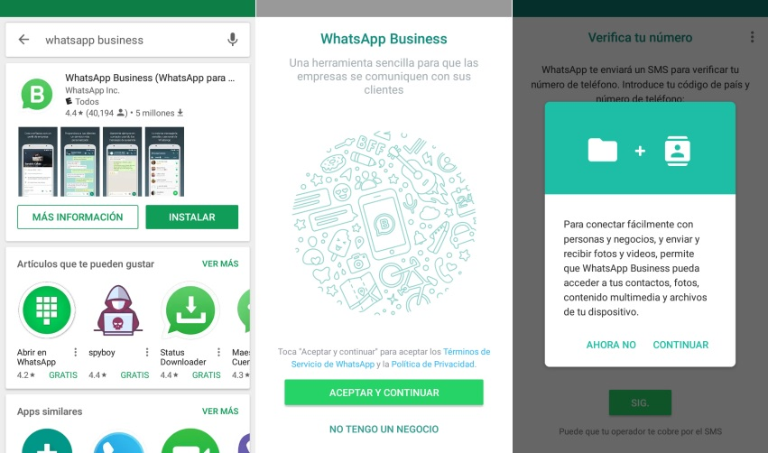 Instalar WhatsApp Business en Android
