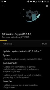 OnePlus 5T con Oreo Android 8.1