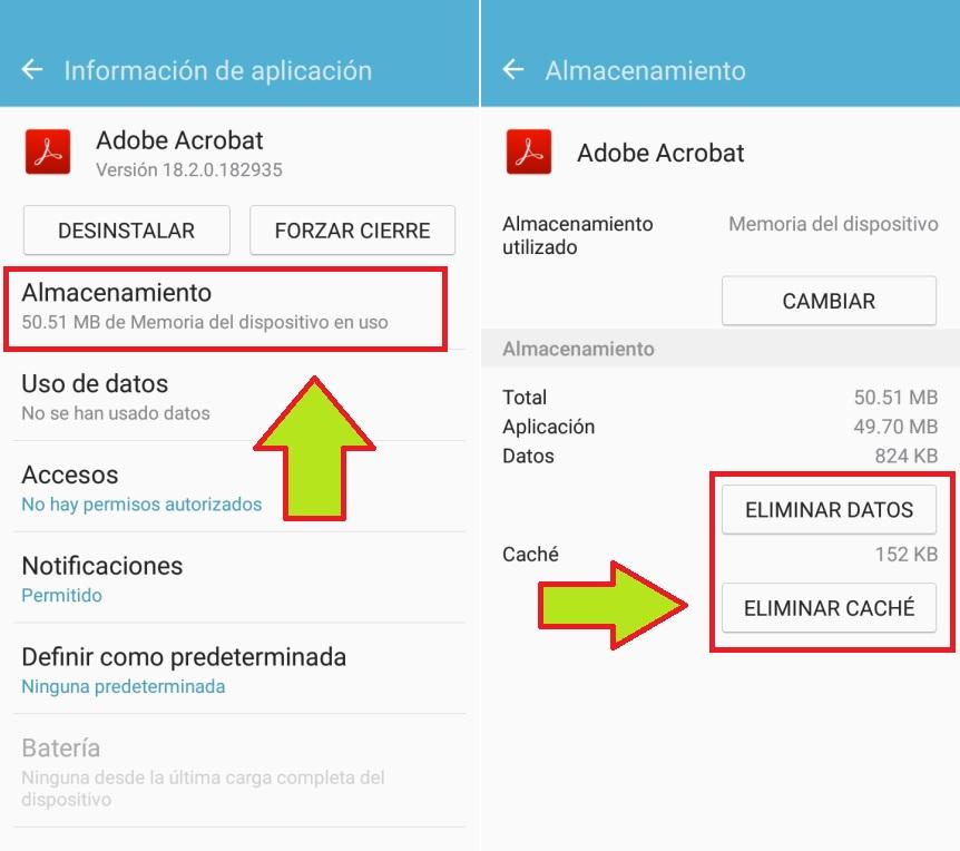 eliminar cache de aplicaciones android
