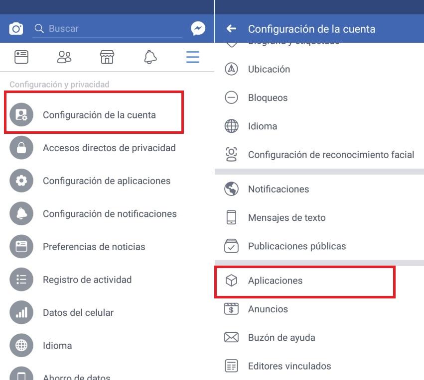 eliminar varias aplicaciones de Facebook con 1 click
