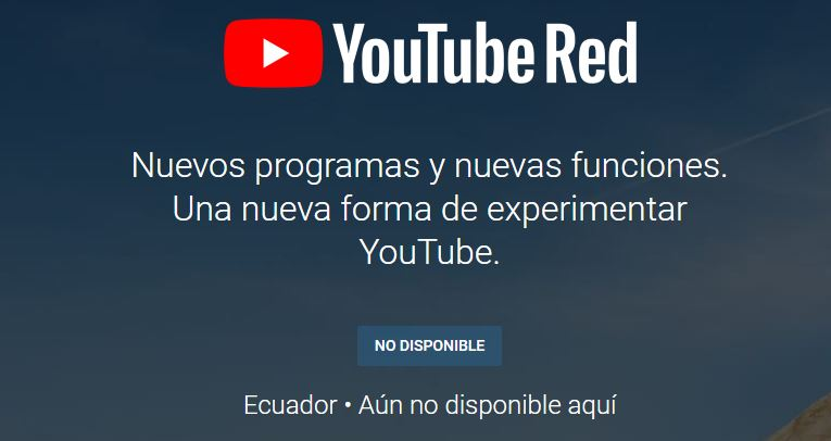 YouTube Premium Disponibilidad