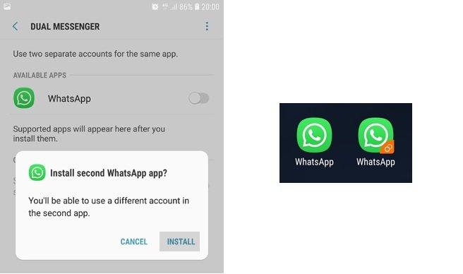 2 Cuentas de WhatsApp en un SmartPhone Samsung Galaxy