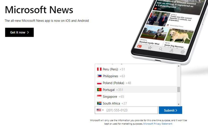 Compatibilidad de Microsoft News